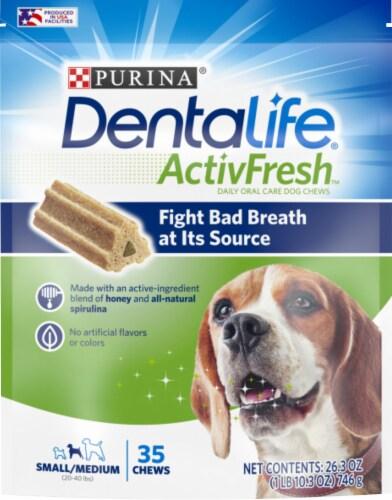 DentaLife ActivFresh Small/Medium Dog Chews Perspective: front