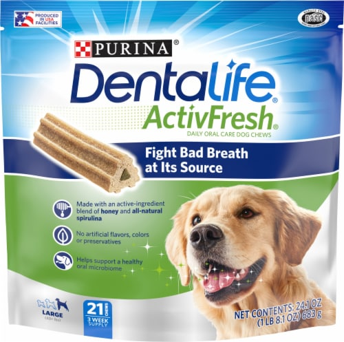 DentaLife ActivFresh Large Dog Chews Perspective: front