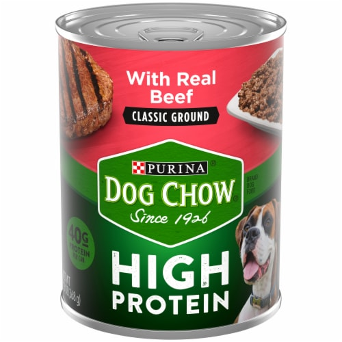Dog Chow Classic Ground Beef Wet Dog Food Perspective: front