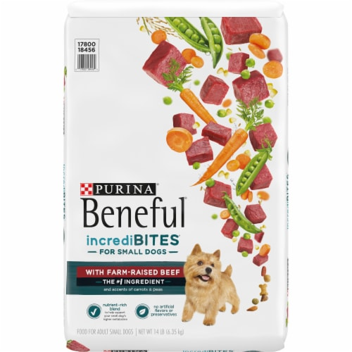 Beneful IncrediBites With Real Beef Small Dry Dog Food Perspective: front