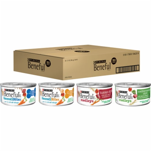 Purina Beneful Variety Pack Wet Dog Food Perspective: front