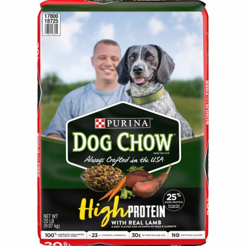 Purina Dog Chow High Protein with Real Lamb Dry Dog Food Perspective: front