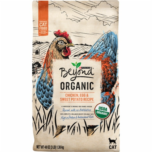 Beyond Organic Chicken Egg and Sweet Potato Dry Cat Food Perspective: front