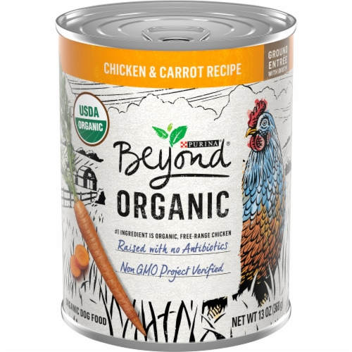 Purina Beyond Organic Chicken & Carrot Wet Dog Food Perspective: front