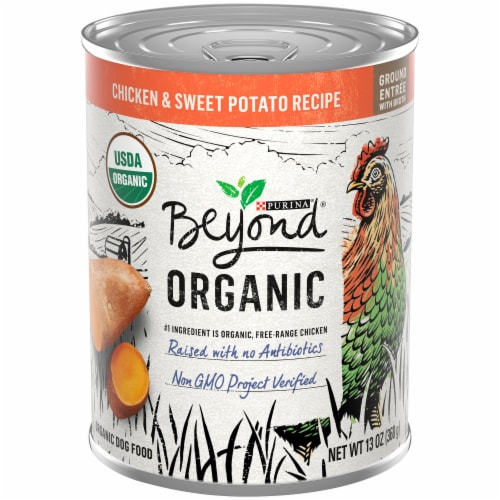 Purina Beyond Organic Chicken & Sweet Potato Wet Dog Food Perspective: front