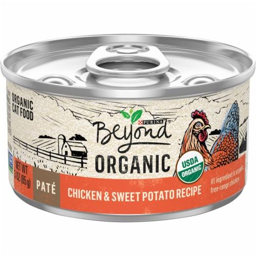 Beyond Organic Chicken & Sweet Potato Recipe Pate Wet Cat Food Perspective: front
