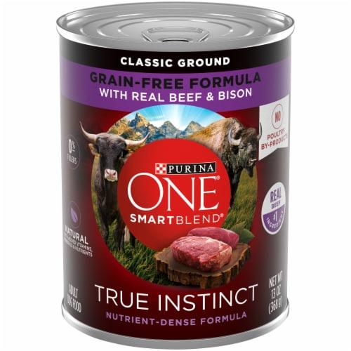 Purina ONE SmartBlend Natural Beef & Barley Entree Adult Wet Dog Food Perspective: front