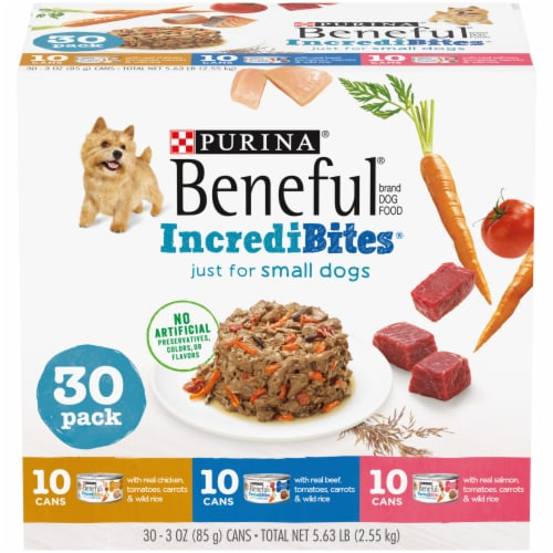 Purina Beneful IncrediBites Assorted Flavors Wet Small Dog Food Perspective: front