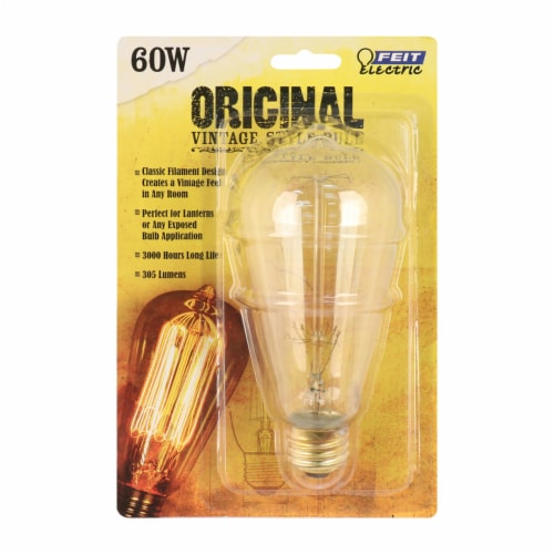 Feit Electric Original Vintage Style 60-Watt Light Bulb Perspective: front