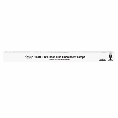 FEIT Electric 75 watts T12 96 in. L Fluorescent Bulb Cool White Linear 4100 K 1 pk - Case Of: Perspective: front
