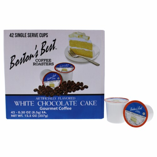 White Chocolate Cake Gourmet Coffee by Bostons Best for Unisex - 42 Cups Coffee Perspective: front