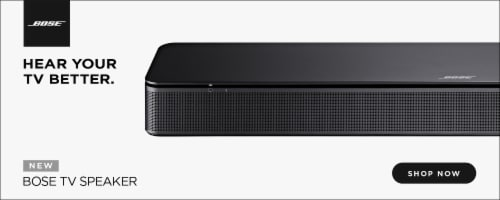 Bose TV Speaker Display—not for online presentation Perspective: front