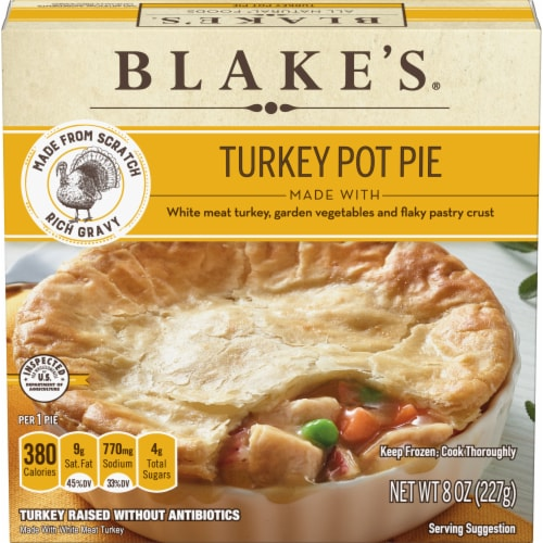 Blake's All-Natural Turkey Pot Pie Perspective: front