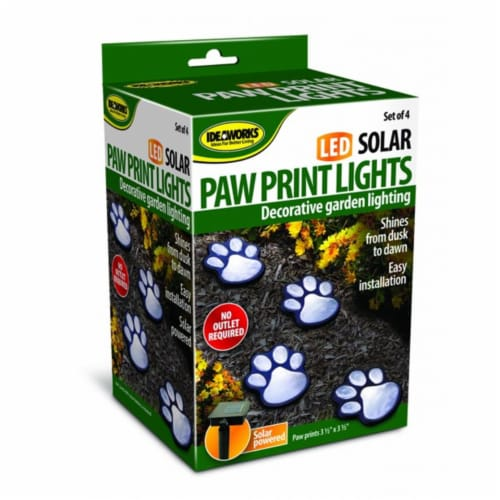 Jobar JB7356 Solar Paw Print Lights, Set of 4 - Black Perspective: front