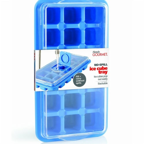 Jobar JB8115 No Spill Ice Cube Tray - Regular Perspective: front