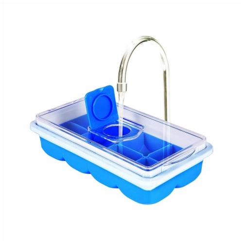 Jobar JB8237BLU No Spill Ice Cube Tray, Blue Perspective: front