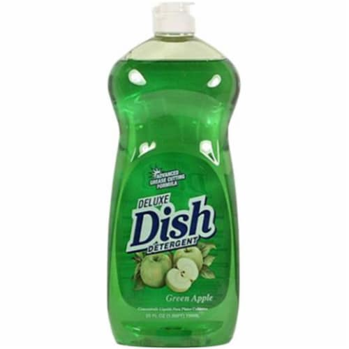 Great Lakes 10007D 25 oz Dish Detergent Green Apple - Pack of 12 Perspective: front
