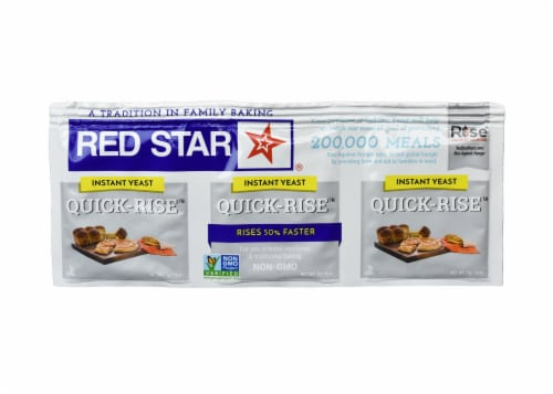 Red Star Quick Rise Dry Yeast Perspective: front