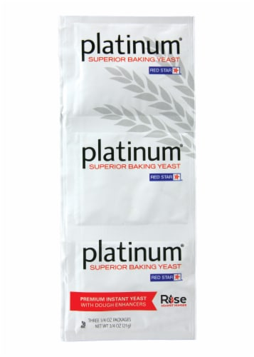 Red Star Platinum Premium Instant Yeast Perspective: front