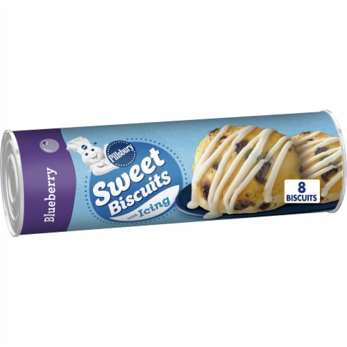 Pillsbury Blueberry Sweet Biscuits with Icing Perspective: front