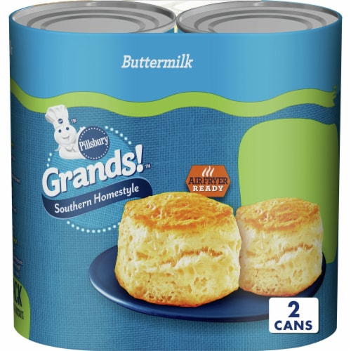 Pillsbury Grands Southern Homestyle Buttermilk Biscuits Perspective: front
