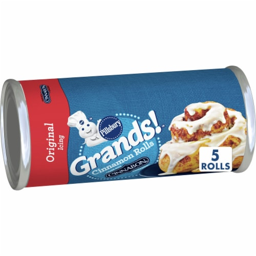 Pillsbury Grands Cinnamon Rolls with Icing Perspective: front