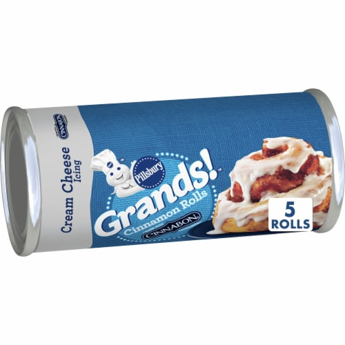 Pillsbury Grands! Cinnamon Rolls with Cream Cheese Icing Perspective: front
