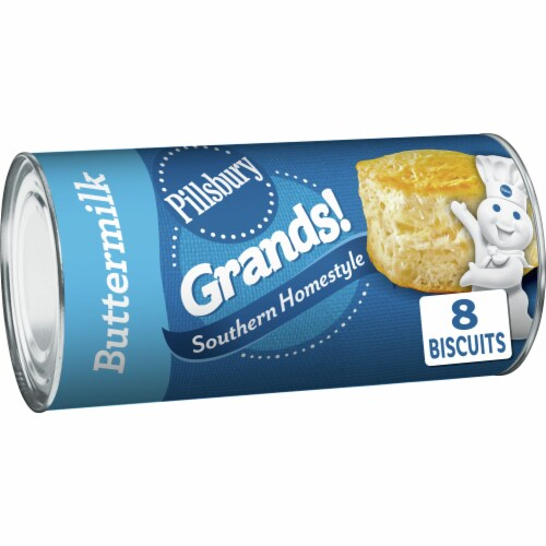 Pillsbury Grands Southern Homestyle Buttermilk Biscuits 8 Count Perspective: front
