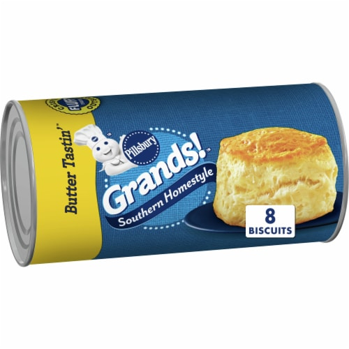 Pillsbury Grands! Butter Tastin' Southern Homestyle Biscuits Perspective: front
