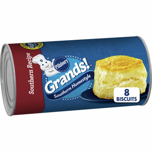 Pillsbury Grands! Southern Recipe Homestyle Biscuits Perspective: front