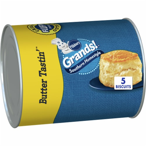 Pillsbury Grands! Butter Tastin' Southern Homestyle Biscuits 5 Count Perspective: front