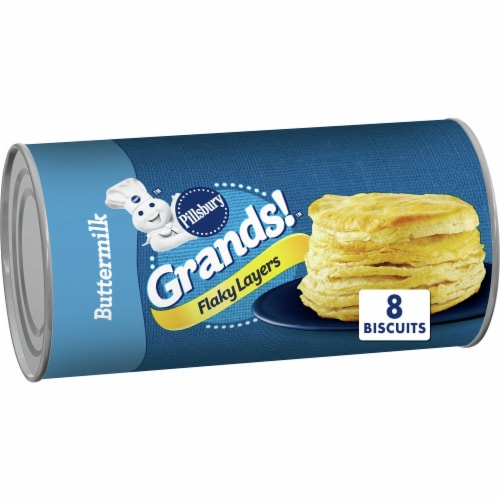 Pillsbury Grands! Buttermilk Flaky Layers Biscuits Perspective: front