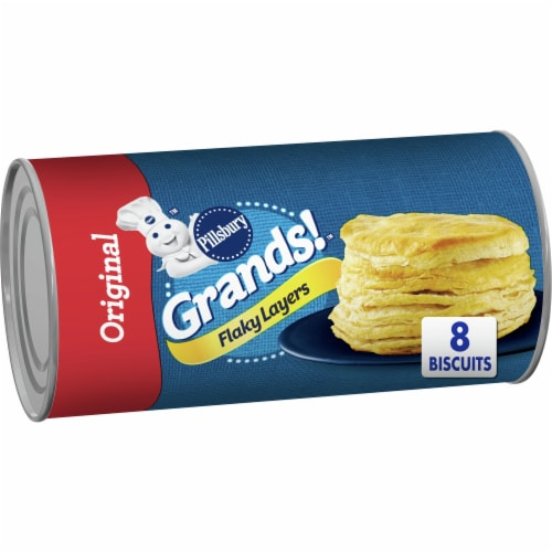 Pillsbury Grands! Original Flaky Layers Biscuits Perspective: front