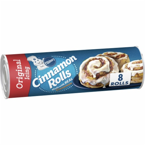 Pillsbury Cinnamon Rolls with Icing Perspective: front