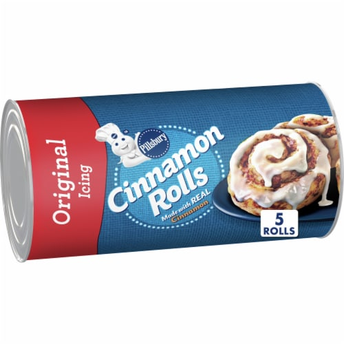 Pillsbury Cinnamon Rolls with Icing 5 Count Perspective: front