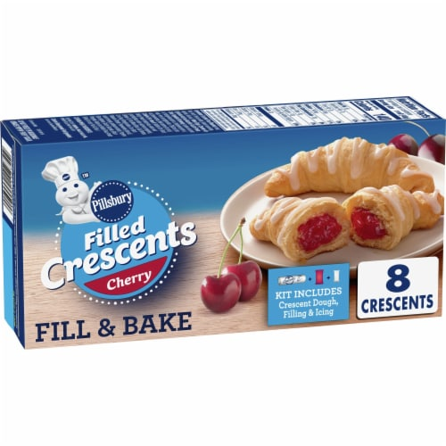 Pillsbury Cherry Filled Crescent Rolls Perspective: front
