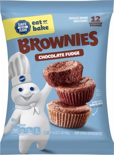 Pillsbury Chocolate Fudge Place & Bake Brownies Perspective: front