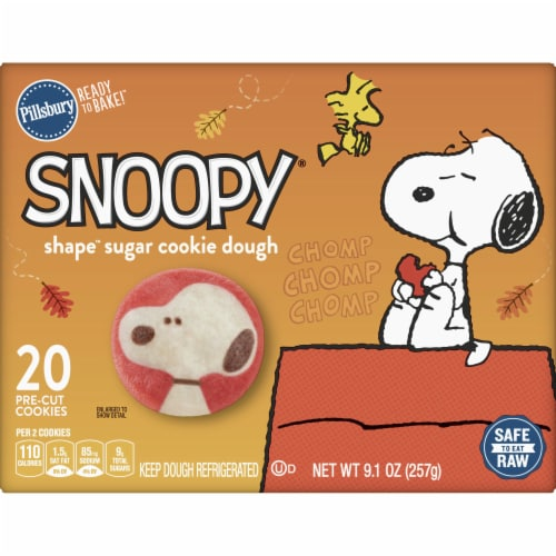 Pillsbury Ready to Bake Snoopy Shape Sugar Cookie Dough Perspective: front