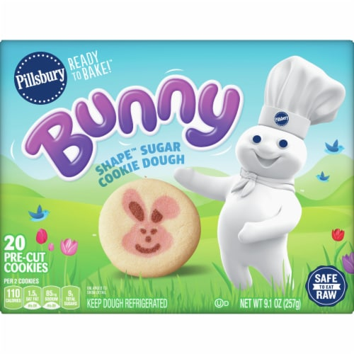 Pillsbury Ready to Bake! Bunny Shape Sugar Cookie Dough Perspective: front