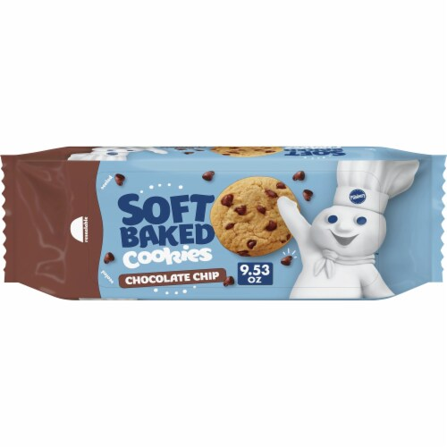 Pillsbury Soft Baked Chocolate Chip Cookies Perspective: front