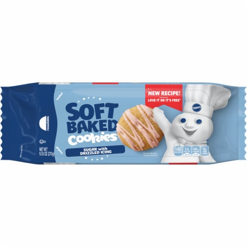 Pillsbury Soft Baked Iced Sugar Cookies Perspective: front