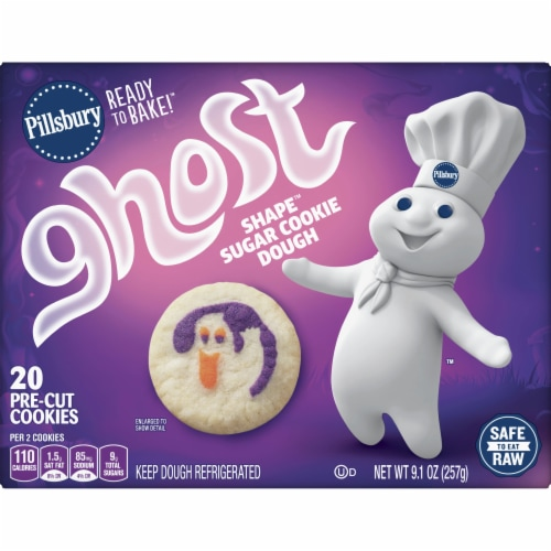 Pillsbury Ready to Bake! Ghost Shape Sugar Cookie Dough Perspective: front