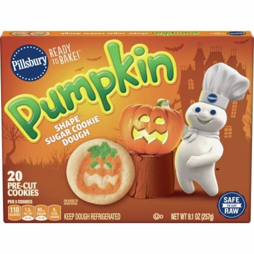 Pilsbury Ready to Bake! Pumpkin Shape Sugar Cookie Dough Perspective: front