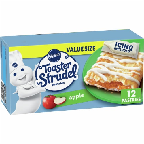 Pillsbury Apple Toaster Strudel Pastries Value Pack Perspective: front
