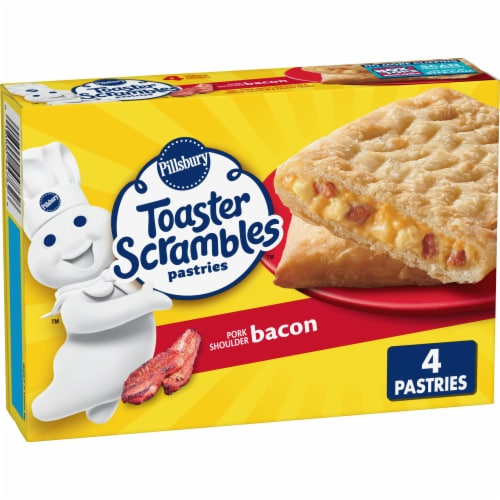 Pillsbury Toaster Scrambles Bacon Pastries Perspective: front