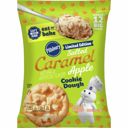 Pillsbury Ready to Bake! Limited Edition Salted Caramel Apple Cookie Dough Perspective: front
