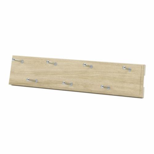 Easy Track 14 Inch 7 Hook Sliding Belt Hanger Closet Storage Rack, Honey Blonde Perspective: front