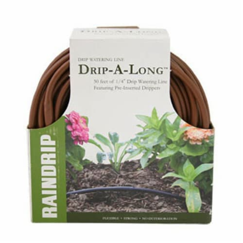 Raindrip R283DT Brown Soaker - 0.25 in. x 50 ft. Perspective: front