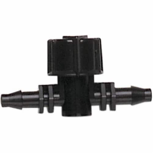 Raindrip 7035348 0.25 in. Drip Irrigation Valve Barb Connector - Pack of 10 Perspective: front