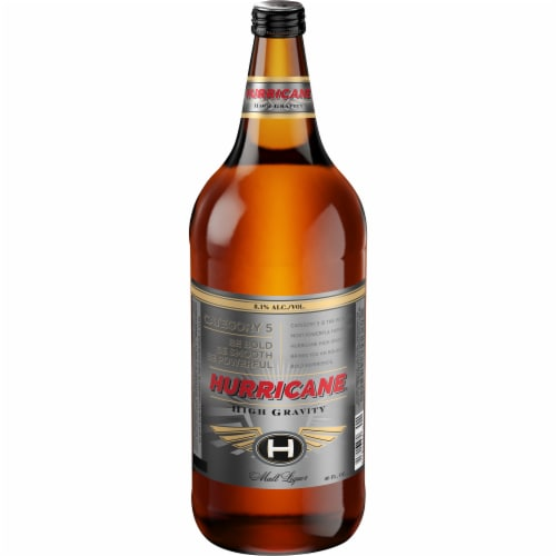Hurricane High Gravity Malt Liquor Perspective: front